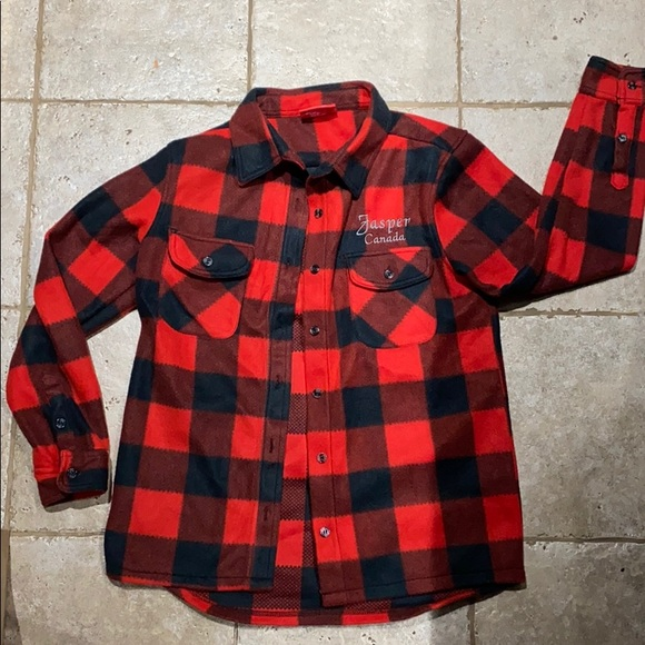 Ladies Fleece Buffalo Plaid Shirt 🇨🇦
